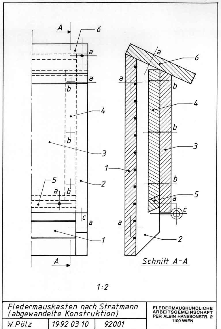 bauplan f r einen h lzernen fledermauskasten 1. Black Bedroom Furniture Sets. Home Design Ideas