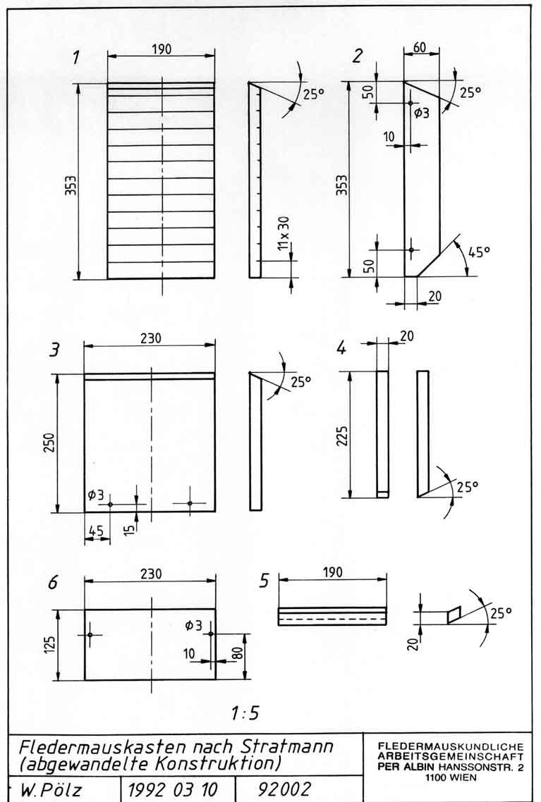 bauplan f r einen h lzernen fledermauskasten 2. Black Bedroom Furniture Sets. Home Design Ideas